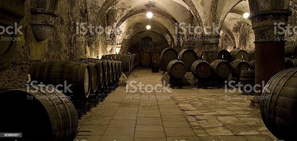 Medieval wine cellar royalty-free stock photo