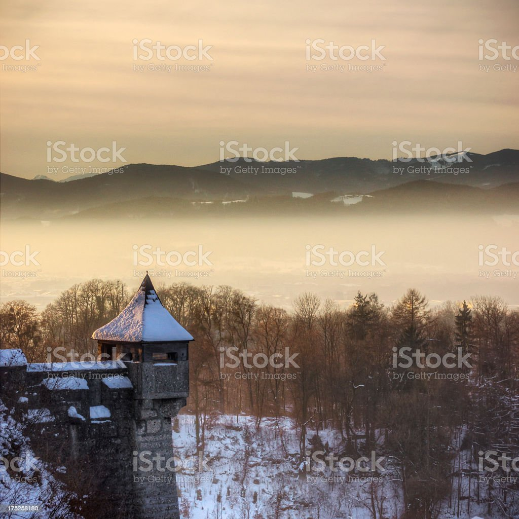 Medieval Winter royalty-free stock photo