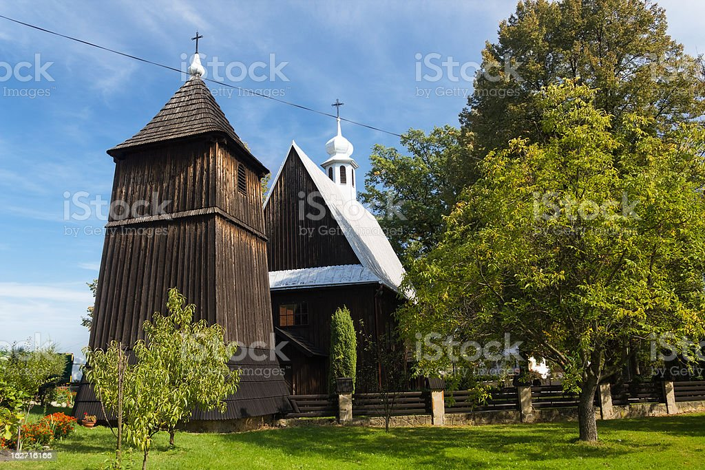 Medieval Wooden Church of 16th Century. royalty-free stock photo