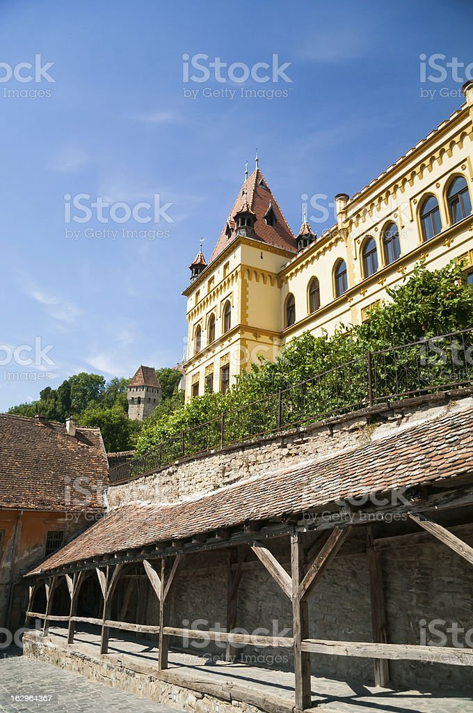 Medieval Wooden Passage royalty-free stock photo