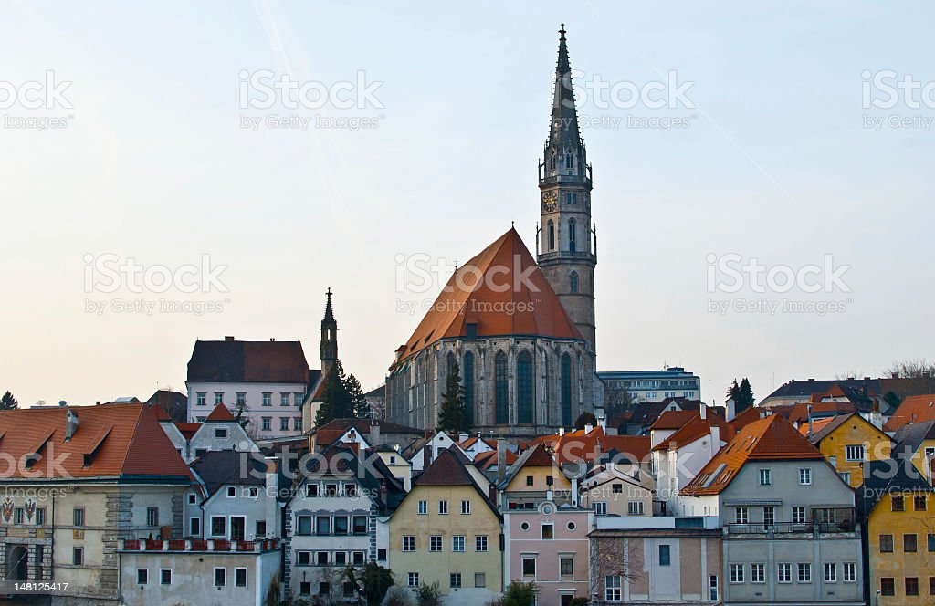 Medievil cityscape of Steyr, Upper Austria stock photo