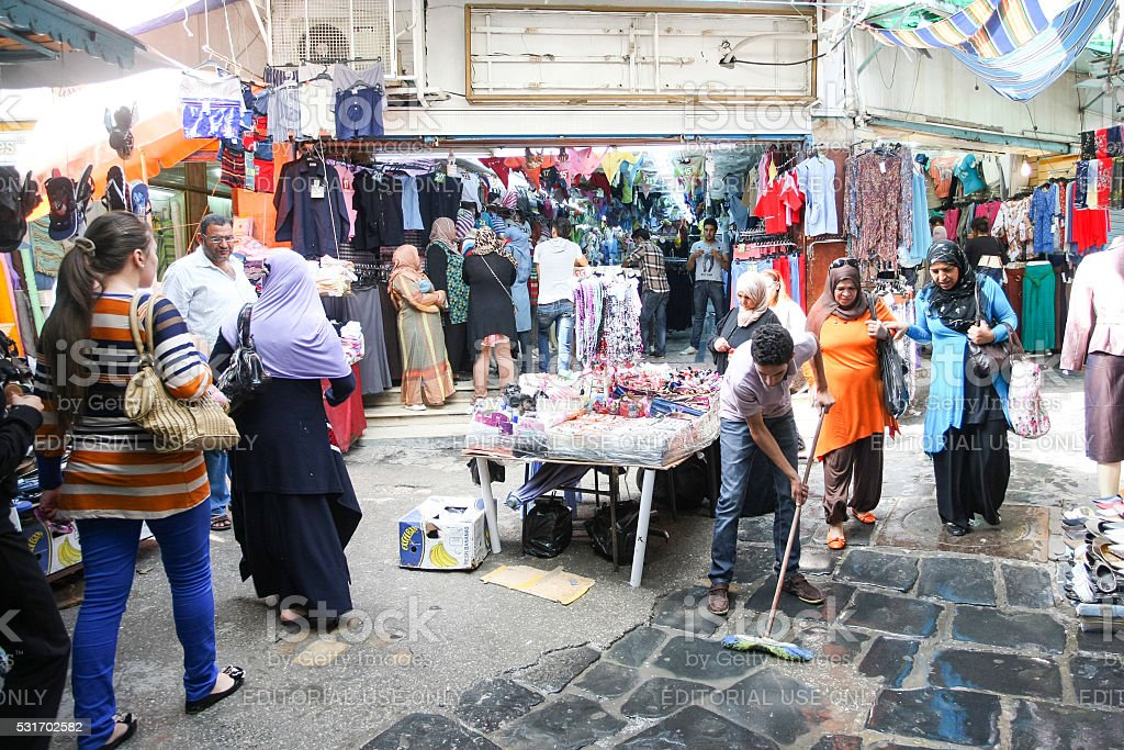 Medina in Tunisia stock photo