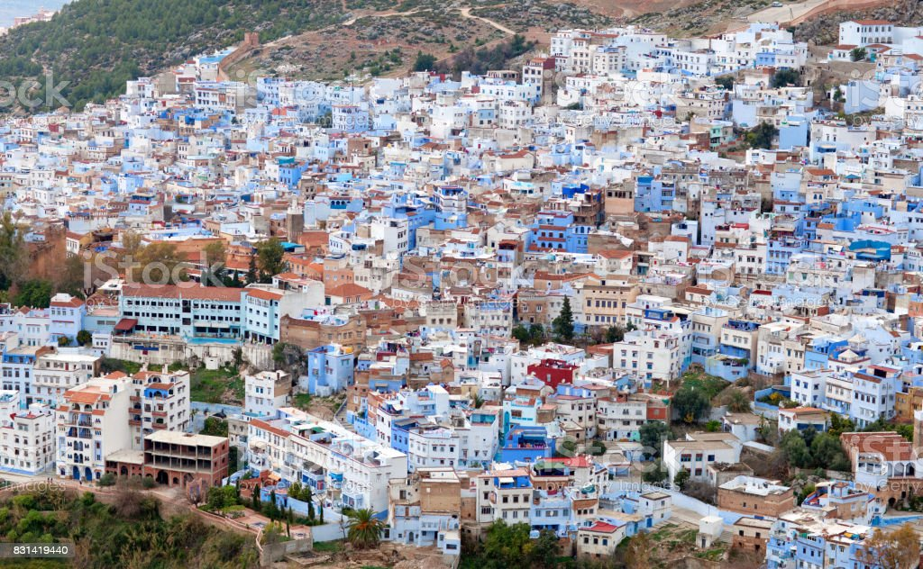 Medina of Chefchaouen city in Morocco, Africa stock photo