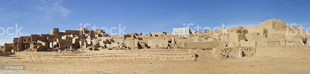Medina (Old Town) of Ghat, Libya stock photo