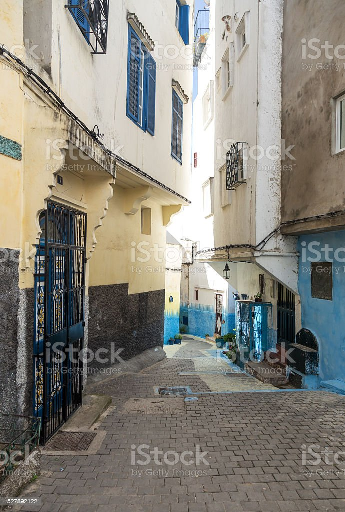 Medina, old part of Tangier, Morocco stock photo
