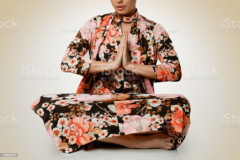 Meditate royalty-free stock photo