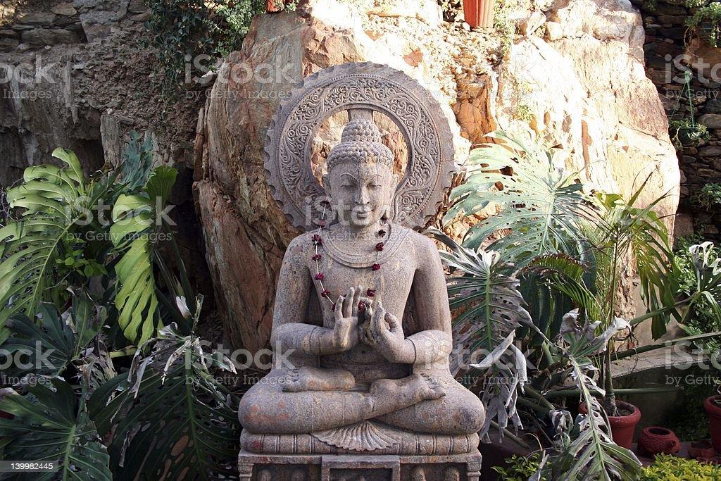 Meditating Buddha royalty-free stock photo