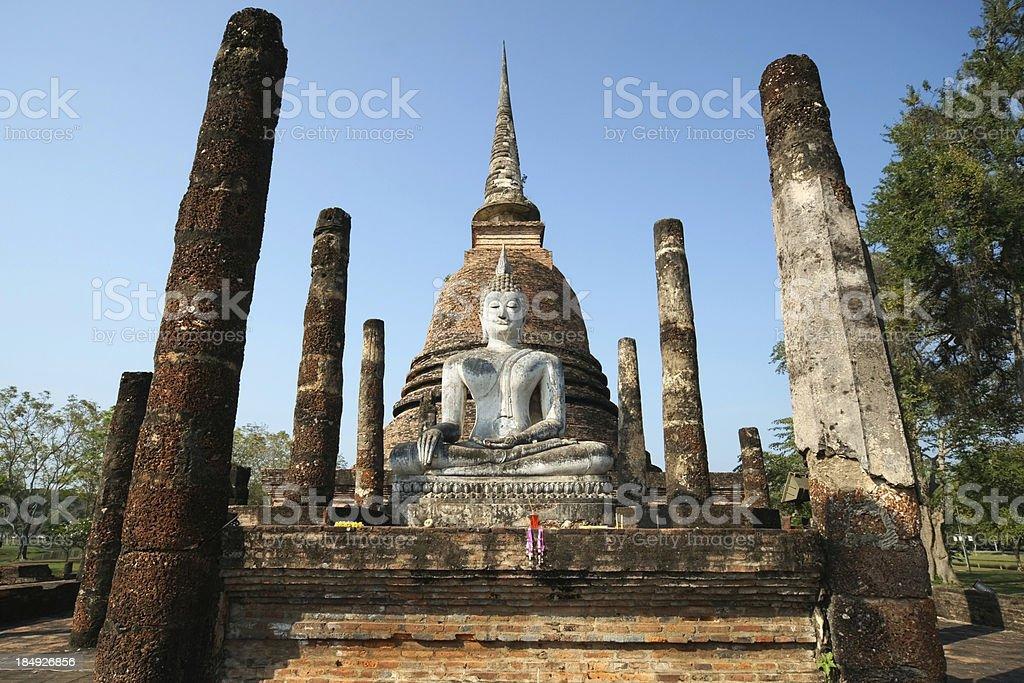 Meditating Buddha Statue at Sukhothai Province, Thailand royalty-free stock photo