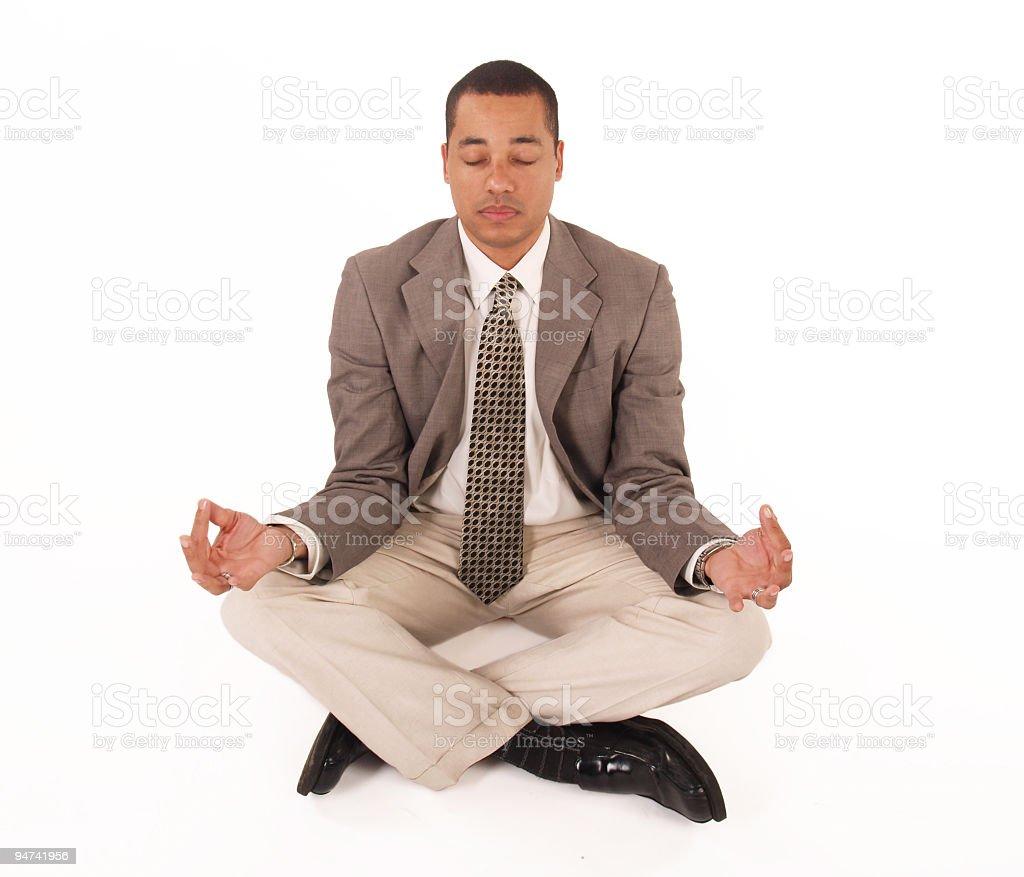 Meditating Business Man royalty-free stock photo