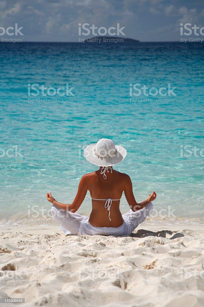 meditating in paradise royalty-free stock photo