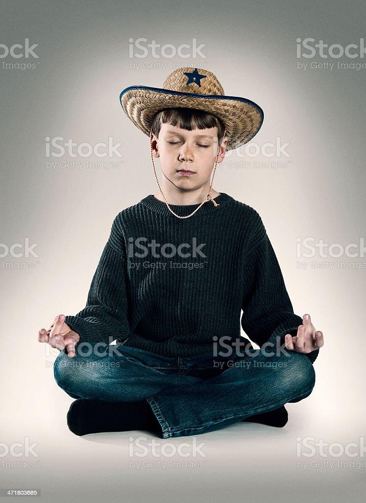 Meditating Sheriff royalty-free stock photo
