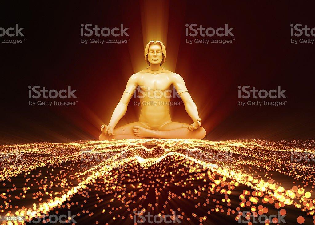Meditating soul royalty-free stock photo