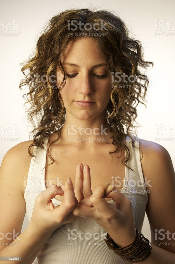 meditating yoga woman 4 stock photo