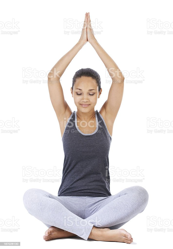 Meditation and relaxation royalty-free stock photo