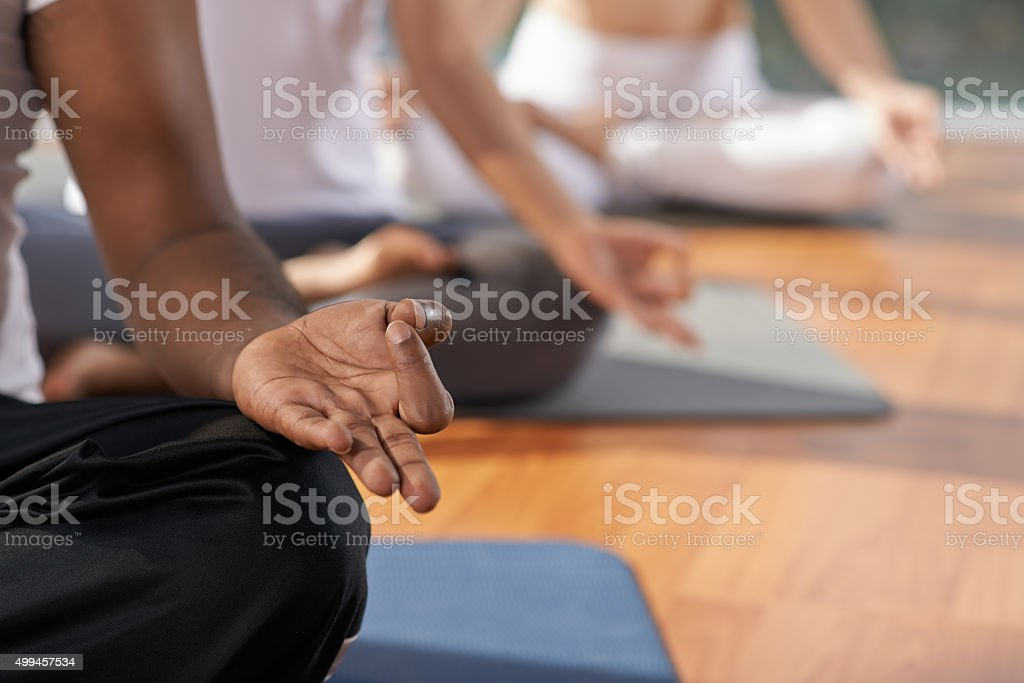 Meditation and yoga concept stock photo