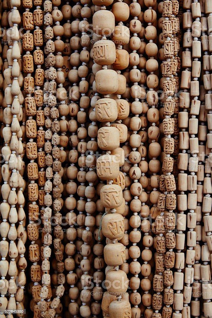 Meditation beads stock photo