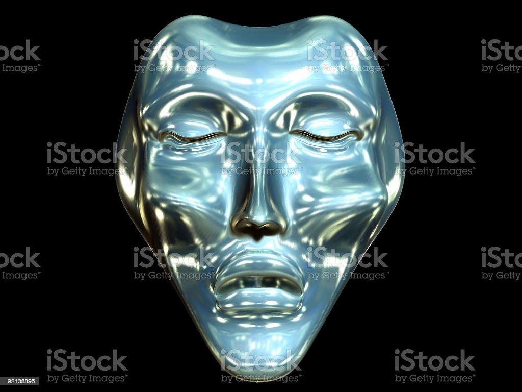 Meditation Bronze Mask royalty-free stock photo