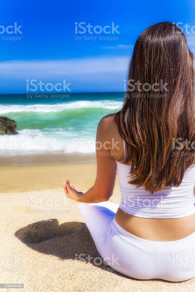 Meditation in Nature royalty-free stock photo