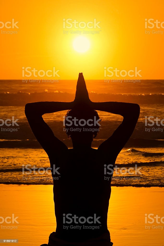 Meditation Love and Comtemplation royalty-free stock photo