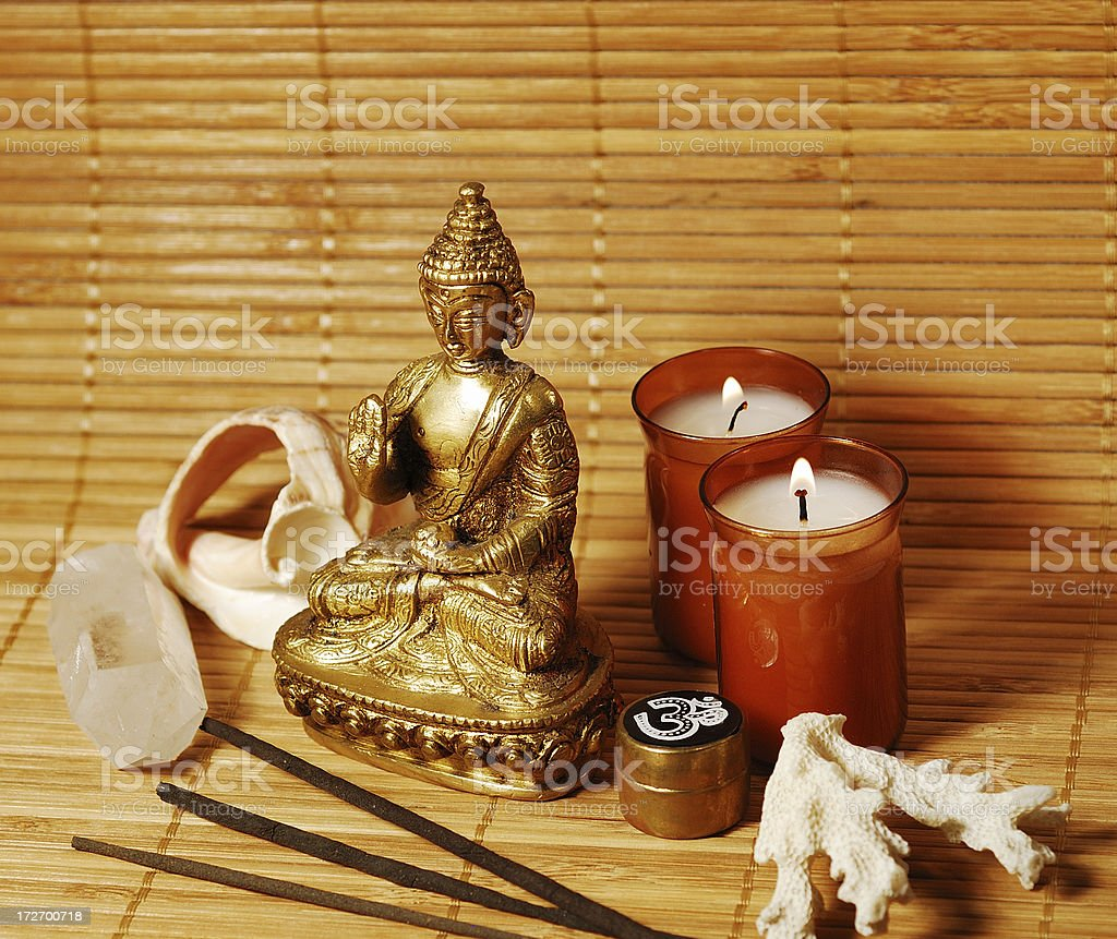 meditation objects royalty-free stock photo