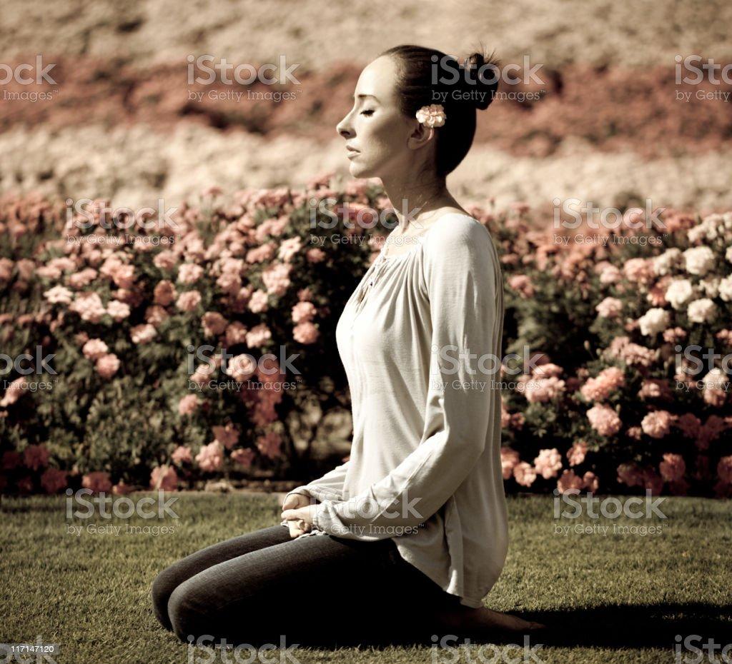 Meditation stock photo
