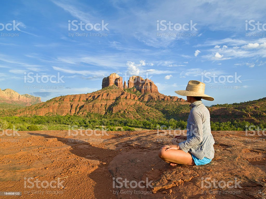 Meditation stock photo