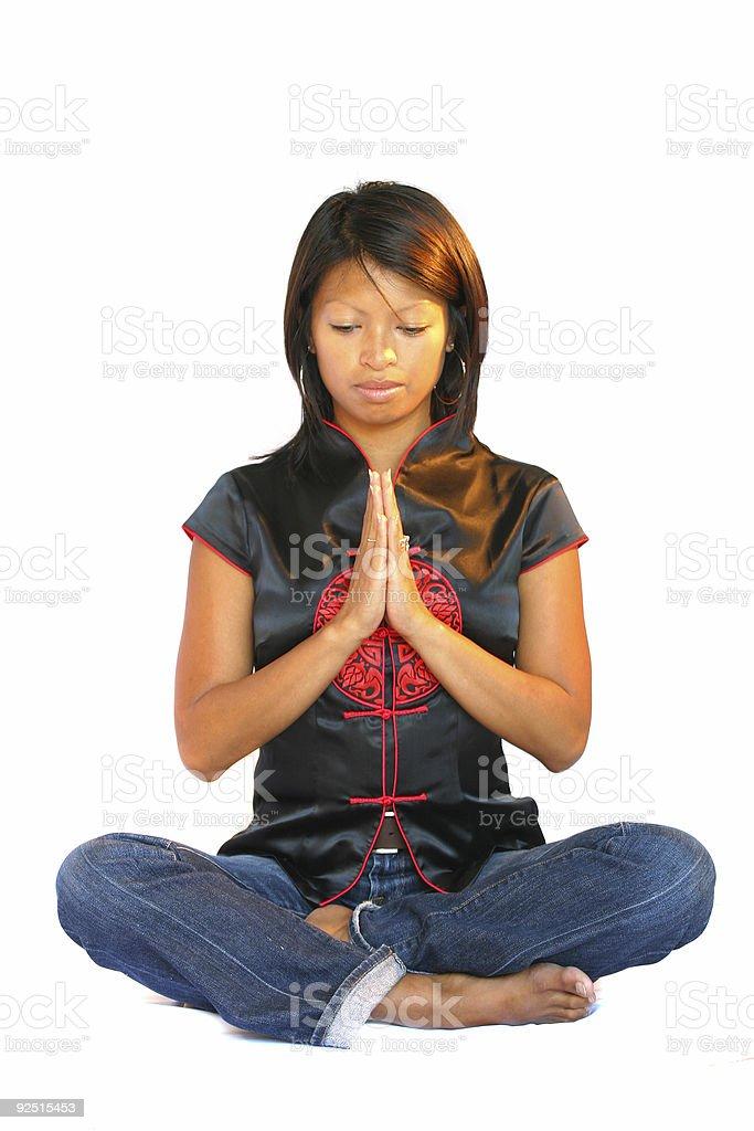 Meditation pose royalty-free stock photo