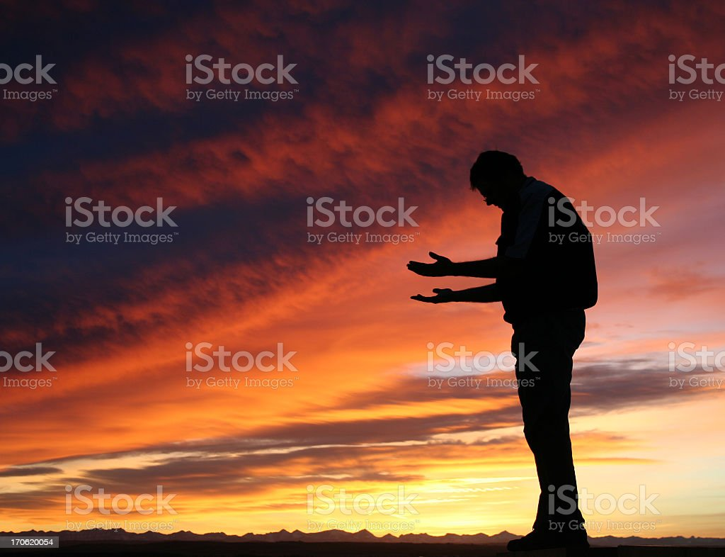 Meditation Silhouette royalty-free stock photo