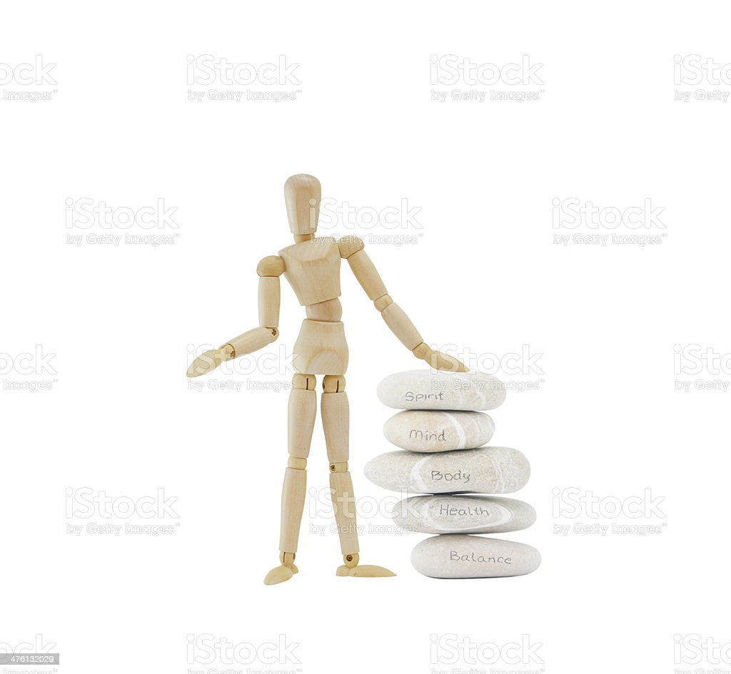 Meditation Stones Mind Body Spirit stock photo