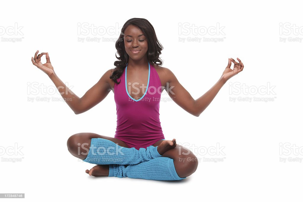 Meditative Dancer stock photo