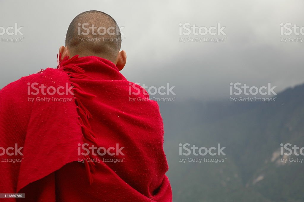 Meditative Monk stock photo