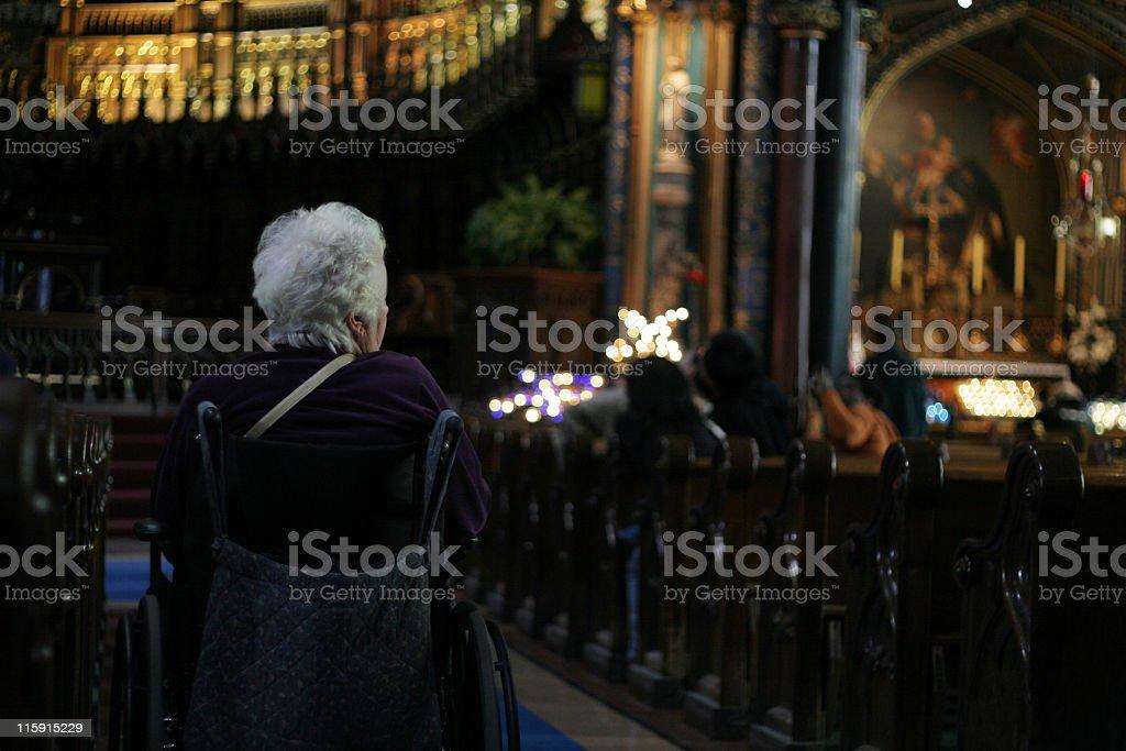 Meditative royalty-free stock photo
