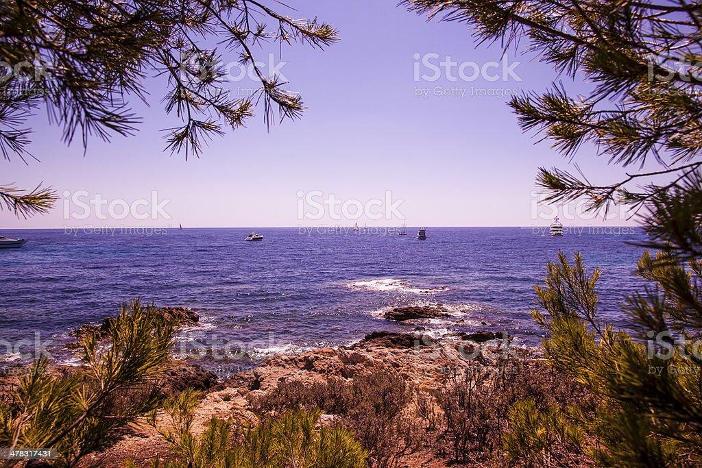 Mediteranean Cove stock photo