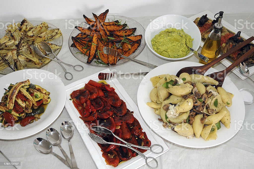 Mediteranean food stock photo