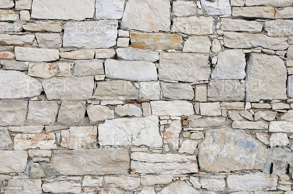 Mediteranean stone wall royalty-free stock photo