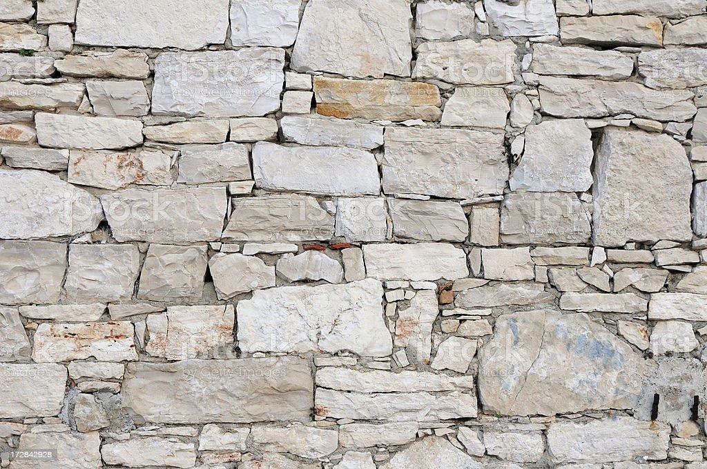 Mediteranean stone wall stock photo