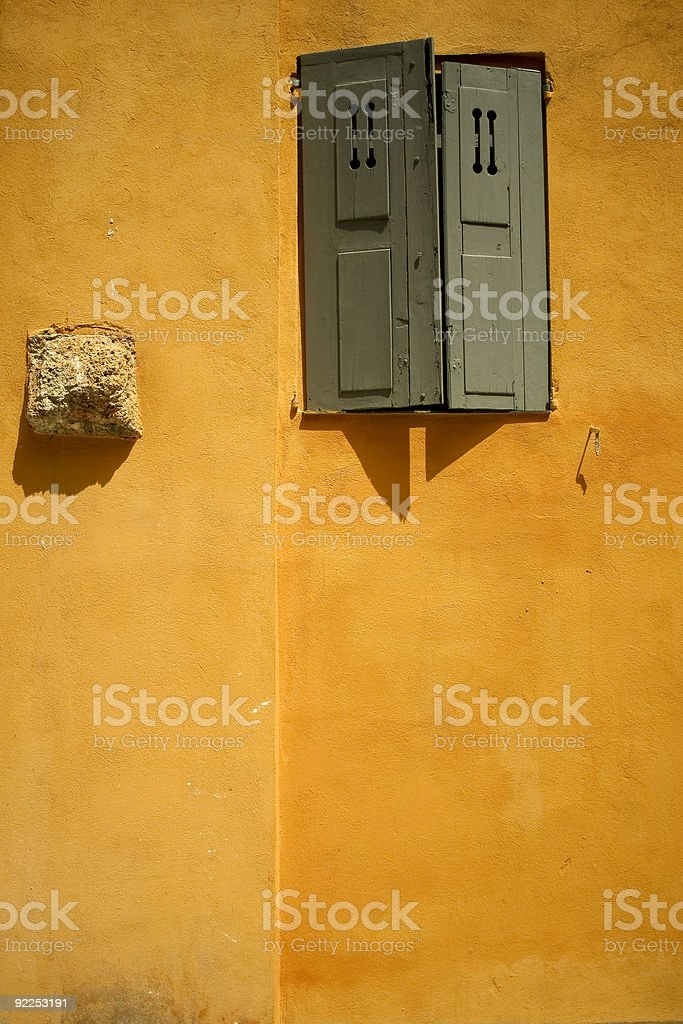 mediteranean wall historic grasse old town royalty-free stock photo