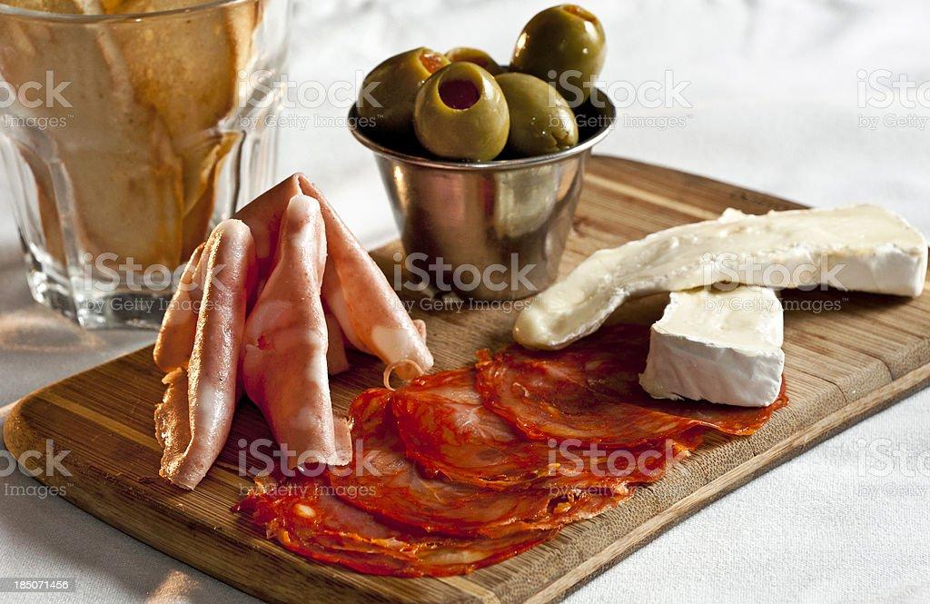 Mediterranean Antipasto stock photo