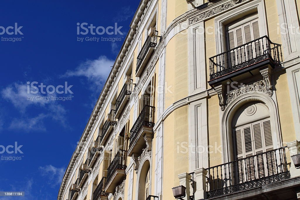 Mediterranean architecture in Spain. royalty-free stock photo