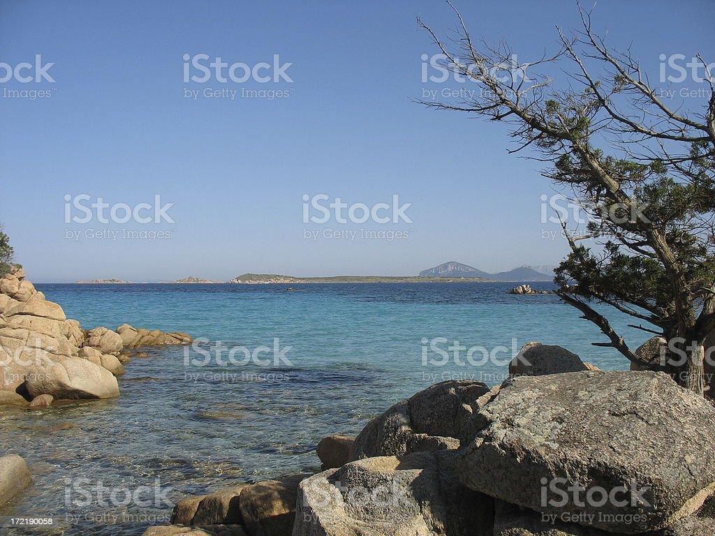 Mediterranean Bay stock photo