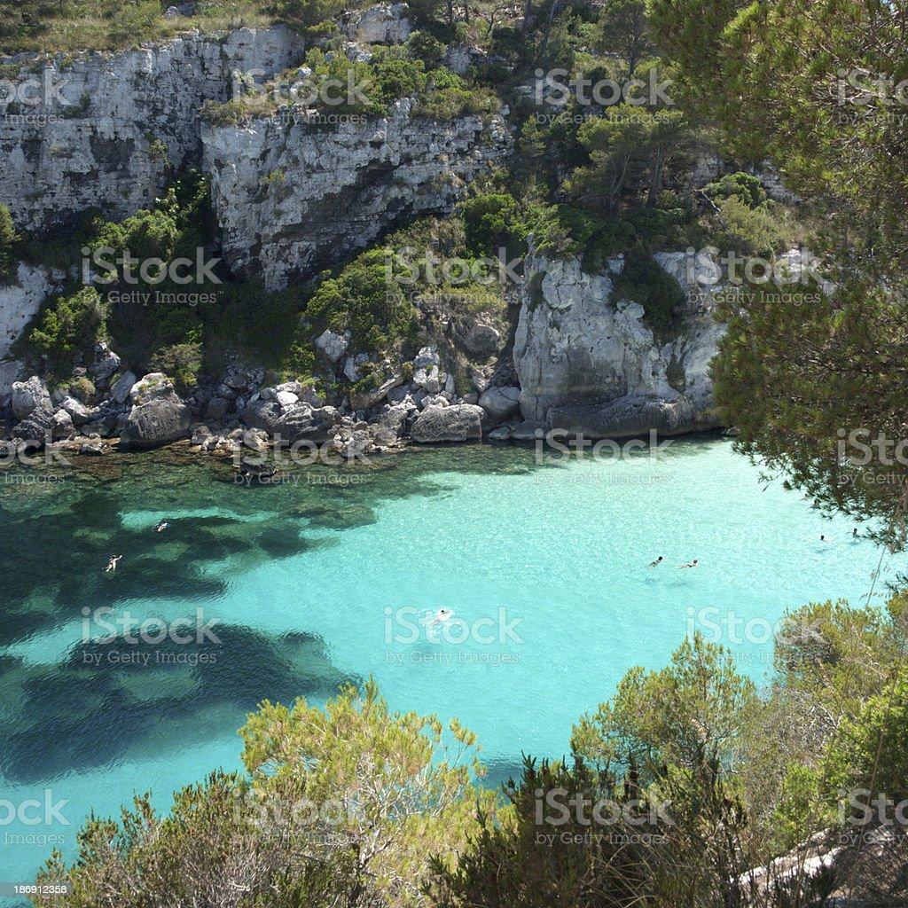 Mediterranean bay royalty-free stock photo