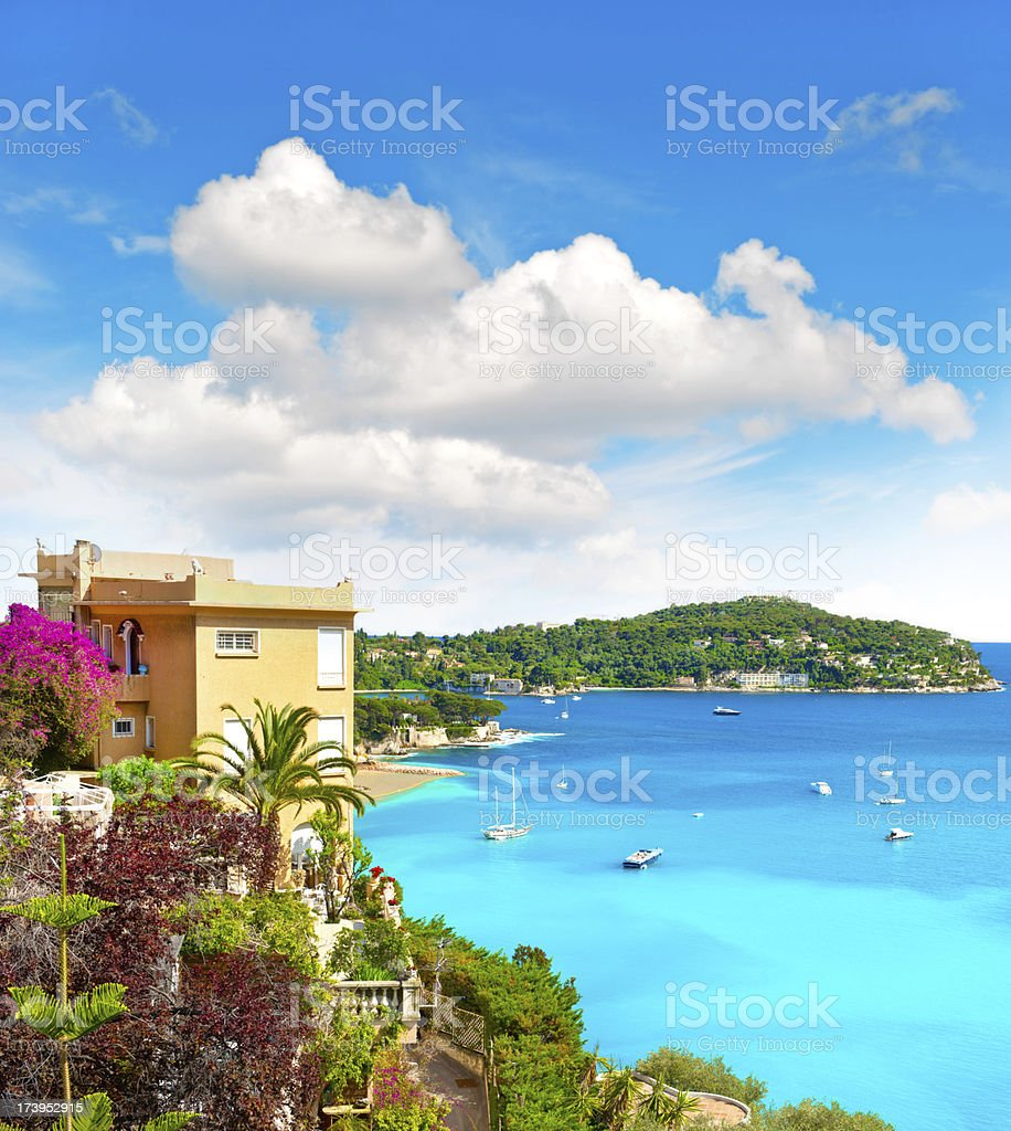 mediterranean beach landscape, french riviera, provence royalty-free stock photo