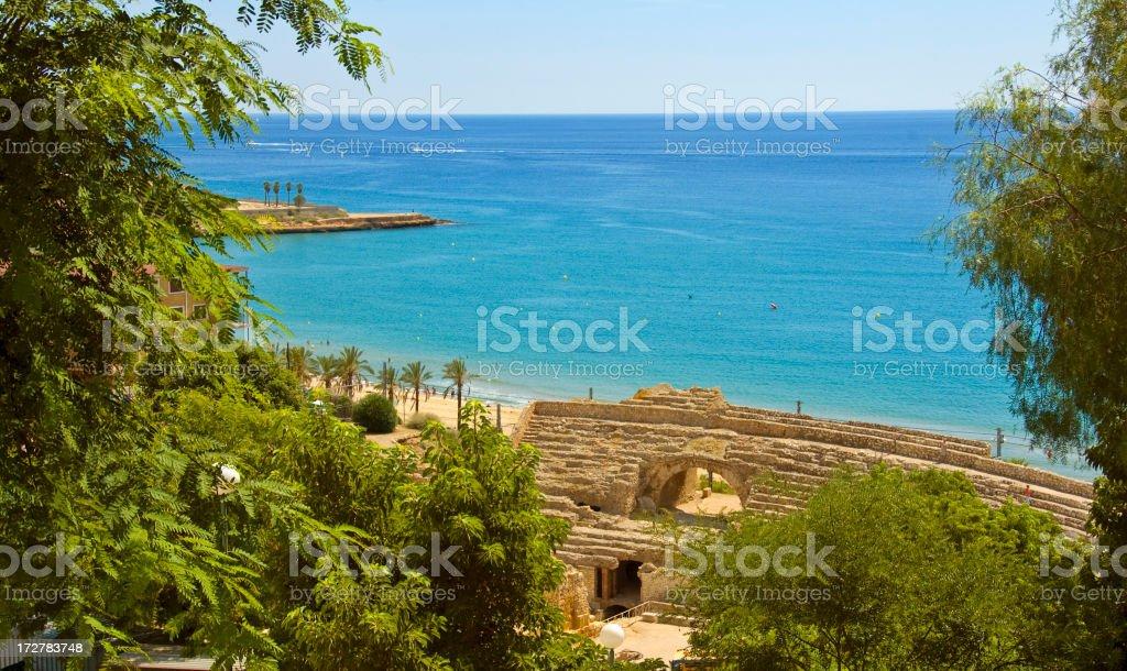Mediterranean beach scene II  |  Tarragona, Costa Dorada stock photo