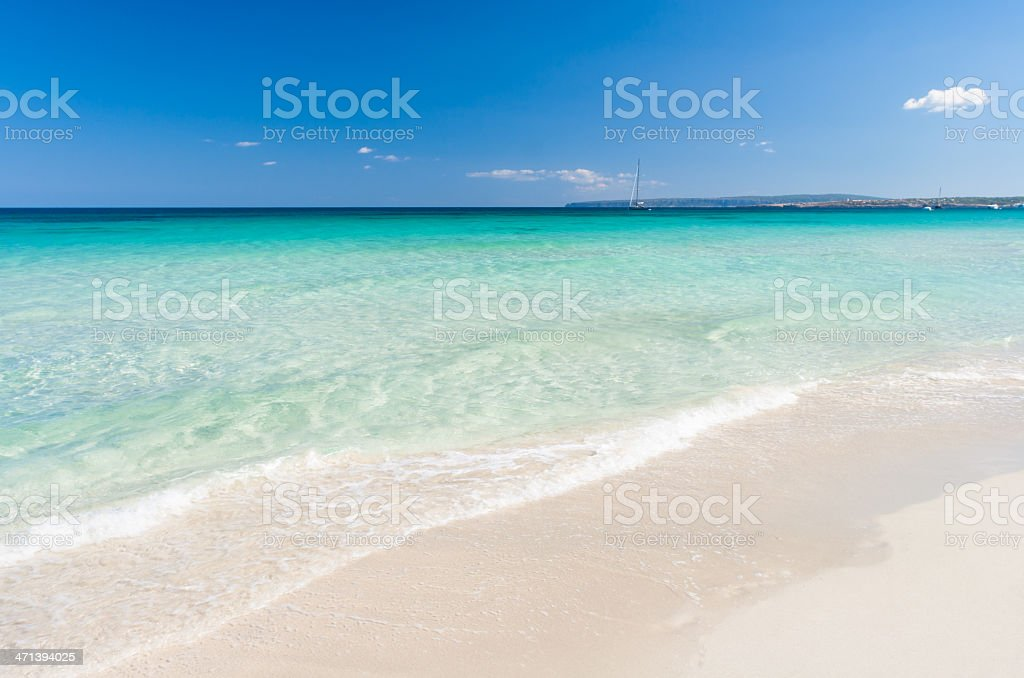Mediterranean beaches. royalty-free stock photo