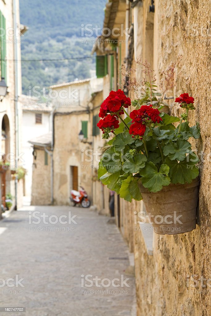 Mediterranean beautiful little alley stock photo
