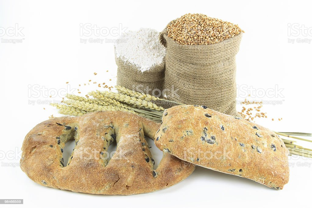Mediterranean  Black olive breads and products. royalty-free stock photo