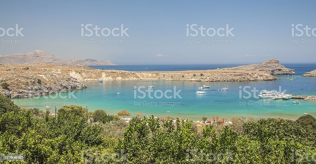 Mediterranean blue bay royalty-free stock photo