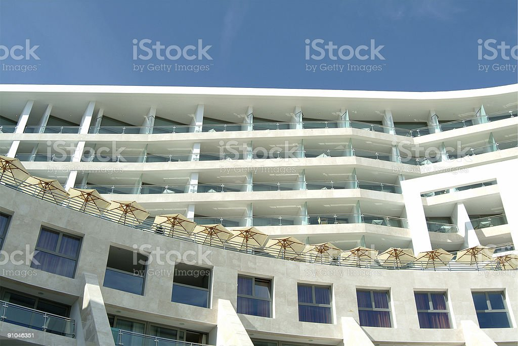 Mediterranean building spa hotel royalty-free stock photo