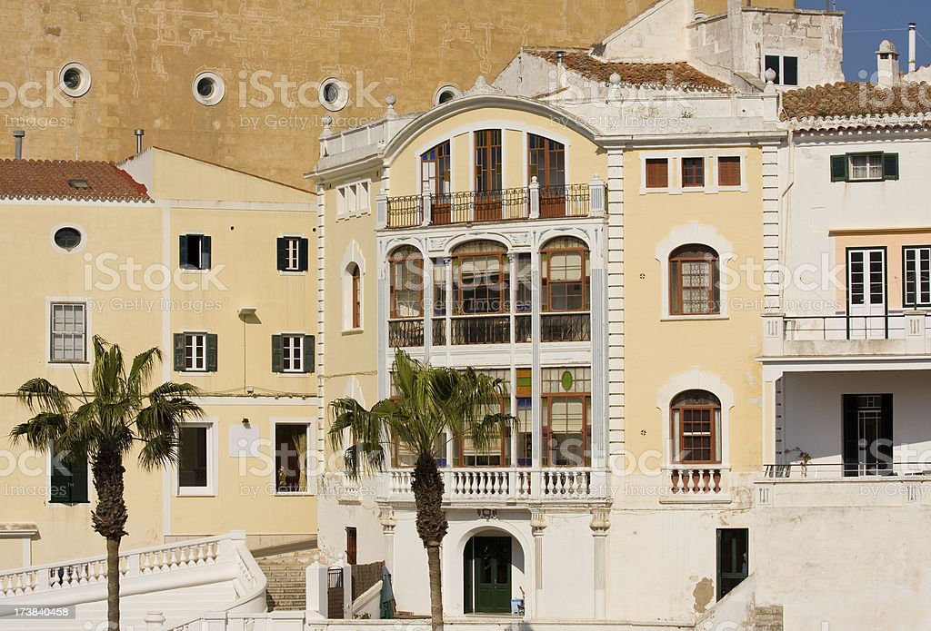 mediterranean city view stock photo