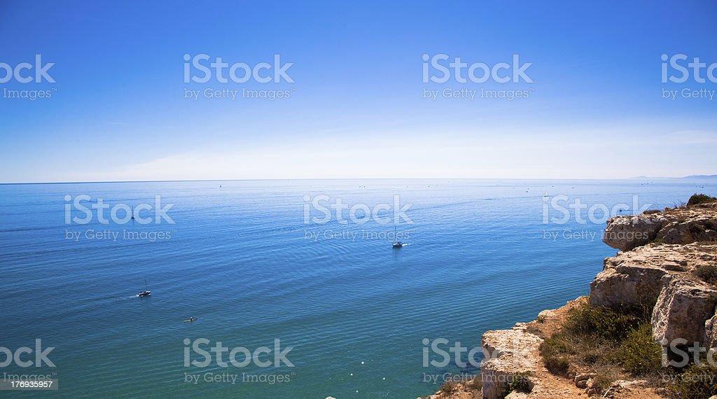 Mediterranean Cliff stock photo